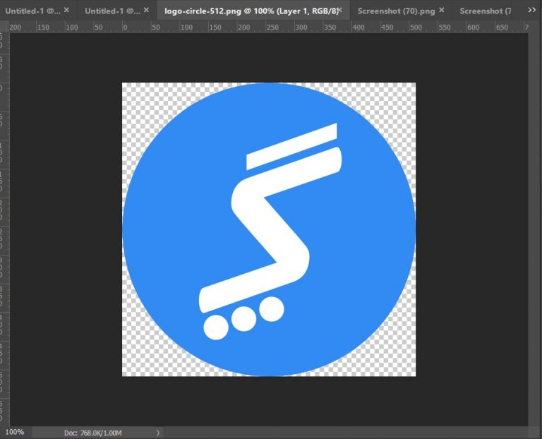 photoshop document window